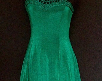 American Green Emerald Vintage Dress