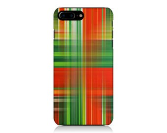 Plaid iPhone Case, Red iPhone Case, Green iPhone Case, iPhone 6s Case, iPhone 7 Case, Galaxy S7 Case, Galaxy S8 Case, Gift Idea