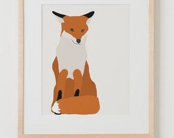 Fine Art Print.  Fox.  January 7, 2016.
