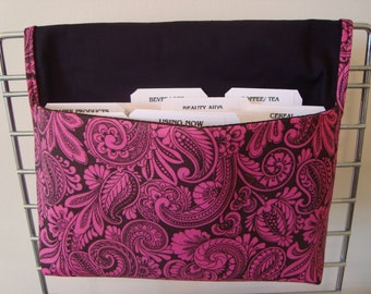 30% OFF Coupon Organizer / Budget Organizer Holder - Attaches To Your Shopping Cart- Hot Pink Paisley