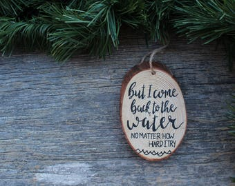 Moana Ornament, Christmas Ornament, Kid's Ornament, Moana, Christmas Decor, Christmas Gift, Wood Slice Ornament, Holiday Decor, Gift for Her
