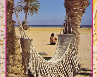 VINtAGE 1970's MaCRAME HaMMOCK SMALLish Beach, Log Cabin, OUTDOoRs & Lake HouSe ReTRo Size 145 x 46 Cms-MacRAMe Pattern PdF Instant Download