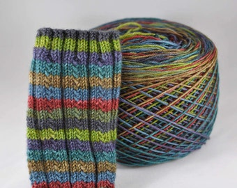 Hand Dyed Self Striping Yarn - Outlander - Beartooth Base