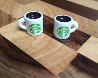 Starbucks Mug Earrings