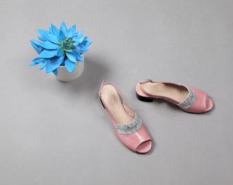Summer Pink Sandals, Leather Shoes, Summer Shoes, Leather Sandals, Leather Flats, Flat Shoes, Open Peep Toe Sandals, Women's Strap Sandals