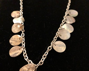 Summer shell and sterling silver chain