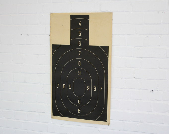 East German Rifle Range Target Circa 1950s