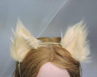 COSPLAY WOLF EARS furry cat fox costume brown
