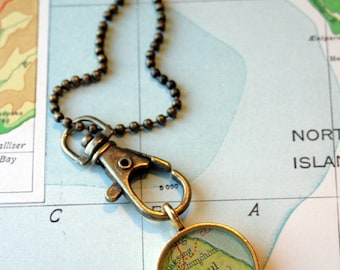 Clip On For Your Map Pendants in Brass, Charm Clip