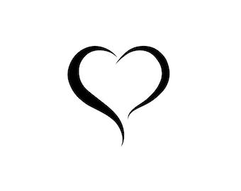 Heart outline | Etsy