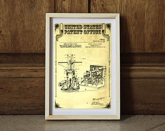 1961 Navy Missile Launcher Patent, Space Art, Space Poster, Pilot Gift, Rockets, Missiles