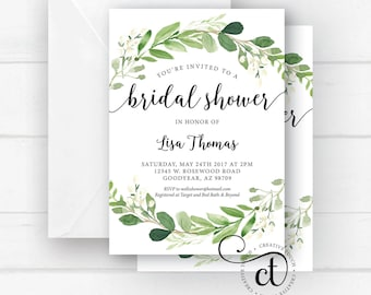 Bridal shower invite etsy greenery bridal shower invitation bridal shower invite bridal shower invitation with greenery boho bohemian bridal shower invite floral filmwisefo