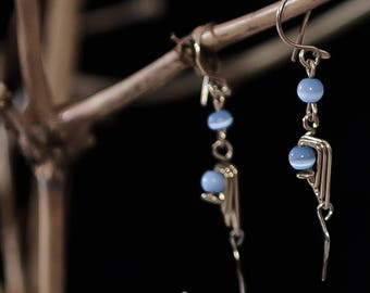 Short earrings with Crystal Cimofano