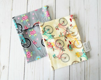 Reusable sandwich bags - set of reusable snack bags - reusable lunch bags - reusable snack pouches - snack bag set - snack baggies