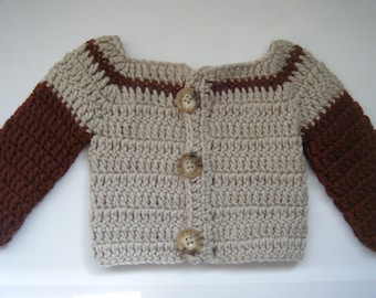 Brown baby sweater