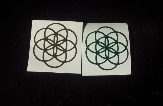 Seed of Life CNC Cut Sacred Geometry Sticker/Decal