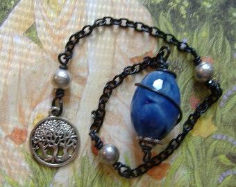 Blue Quartz Pendulum, Crystal Pendulum, Pendulum, Healing Crystals, Blue Pendulum,  Dowsing Pendulum, Healing Pendulum, Reiki, Witchy Gift