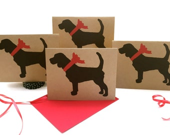 Beagle Card Set - Holiday Thank You Cards Bulk - ECOfriendly Gifts for Dog RESCUE Lovers - Birthday - Christmas - Valentines - Pet Sympathy