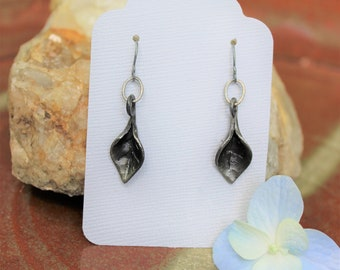 Forged Iron Leaf Earrings
