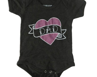 I Heart Dad Kids Tattoo Shirt