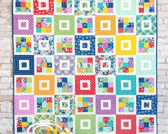 Shortcake quilt pattern by Cluck Cluck Sew jelly roll friendly