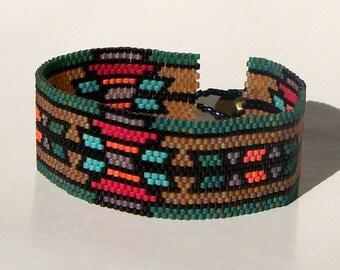 Arizona Bracelet Pattern - Peyote Pattern