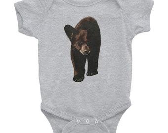 Baby Bear Onesie - Printed with original watercolor art