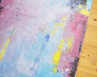 Acrylic painting - metallic series