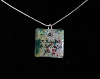 Inspirational Quotes Necklace or Keychain