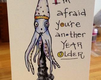 Birthday squid card