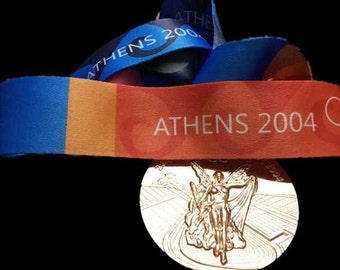 Athens 2004 Olympic 'Gold' Medal with Silk Ribbon