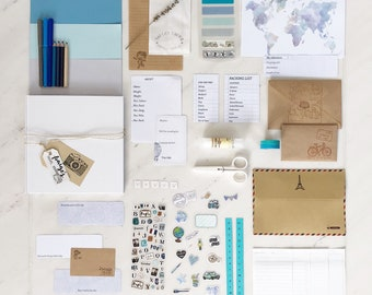 Travel Journal Kit (Shades of Blue)