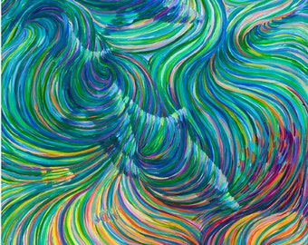3 Dolphins Healing Energy Painting - Giclee Print