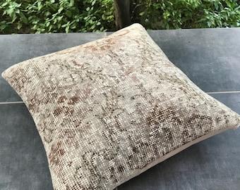 Turkish handmade pillow, 18x18 inches 45x45 cm