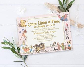 Storybook Baby Shower Invitation, Storybook Invitation, Storybook Theme, Once Upon A Time Invitation, New Chapter Baby Shower Invitation