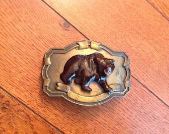Vintage Raintree Brown Bear Belt Buckle
