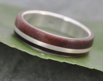 Size 9, READY TO SHIP Solsticio Nacascolo Wood Ring - ecofriendly wood wedding band, mens wedding band, wood wedding ring
