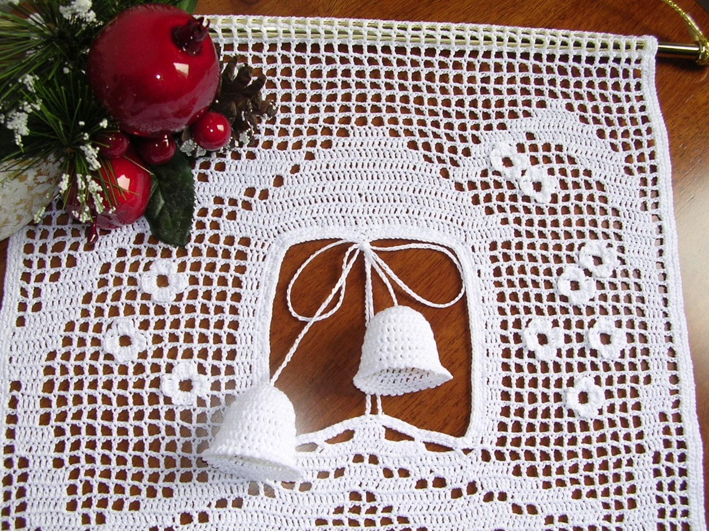 Häkeln Sie Handarbeit Baumwolle dekorativer Vorhang weiße Haus
