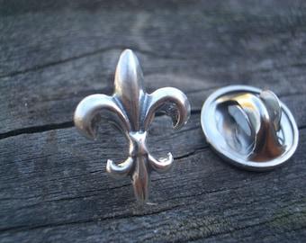 Fleur de Lis Lapel Pin Tie Tack by donnaodesigns