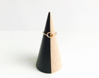 Black Wood Ring Cone | Ring Holder | Jewelry Holder