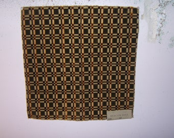 """Beacon HIll """"Massimo"""" silk geometric remnant for crafting"""