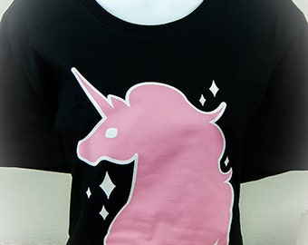Melty Dripping Unicorn Graphic T Shirt Kawaii Fairy Kei Pastel Goth