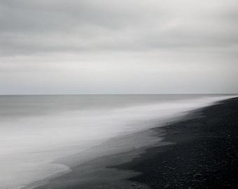 Minimalist Art Print, Iceland Landscape Photography Print, Modern Wall Art, Black and White Scandinavian Art, Landscape Print - Ghost in You