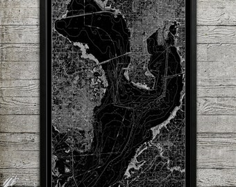 Map of TAMPA BAY Print, Wall Decor for your Home or Office