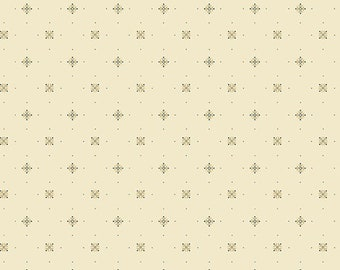 Yardage, Something Blue 8834-L Ivory Princess Cut by Edyta Sitar from Andover Fabrics, Traditional Quilt, Reproduction Fabric