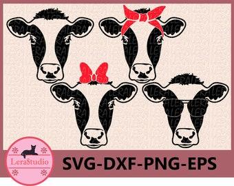 60 % OFF, Cow Head SVG, Farm svg, Cow with Bandana svg, Farm Milk Svg, Cow face SVG, dxf, ai, eps, png, Silhouette svg, Vector svg, Clip Art