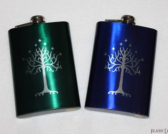 Lord of the Rings 8 oz Tree of Gondor Flask