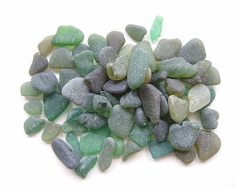 Scottish beach finds, craft sea glass, bulk listing beach glass, sea glass from Scotland, lot of sea glass from Scotland, green - LOT 4