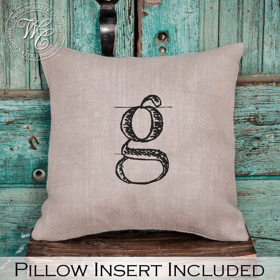 Personalized Pillows For Wedding Gift: Monogram Pillow Burlap Pillow Personalized Wedding Gift