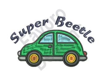 Super Beetle - Machine Embroidery Design